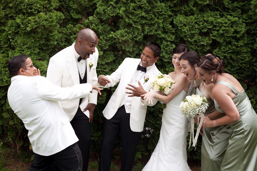 wedding portrait bridal party