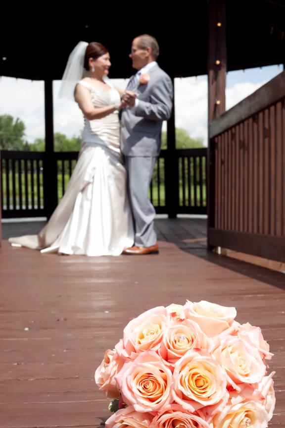 wedding portrait bride and groom