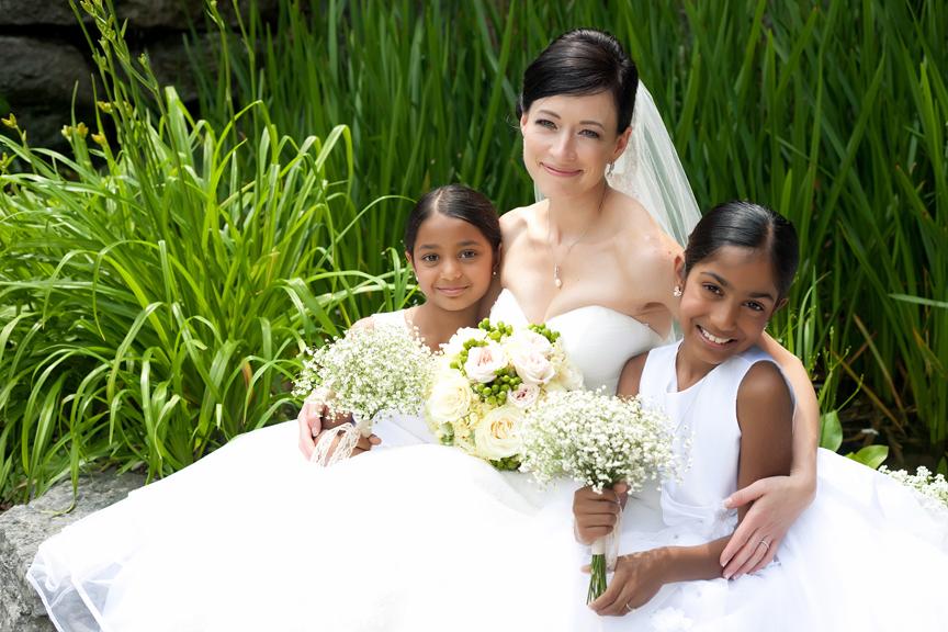 wedding portrait with kids
