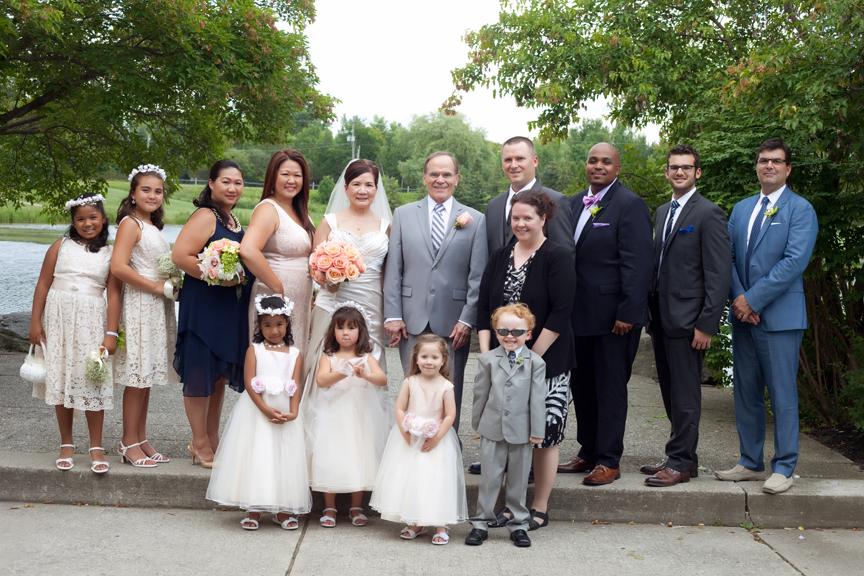 wedding portrait family