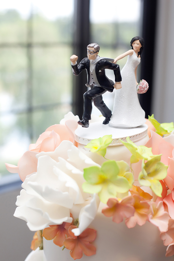 Wedding reception cake decor