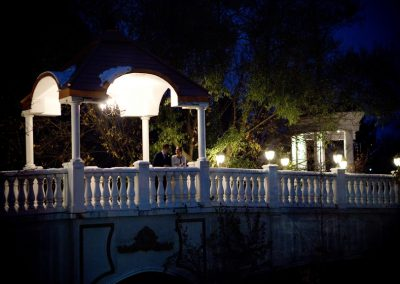 night time wedding portrait at Paradise Banquet Hall