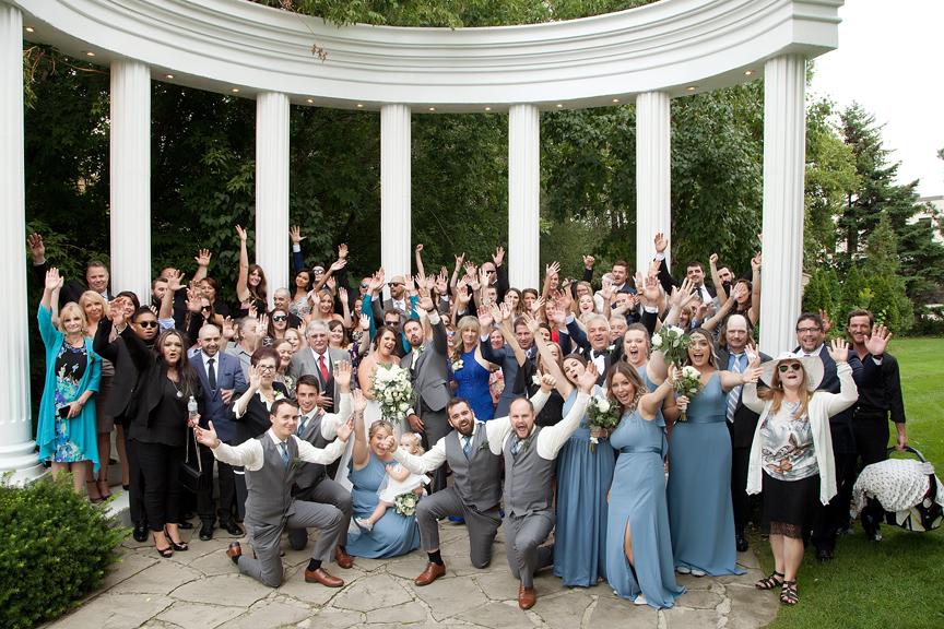 wedding portrait group photo Paradise Banquet Hall