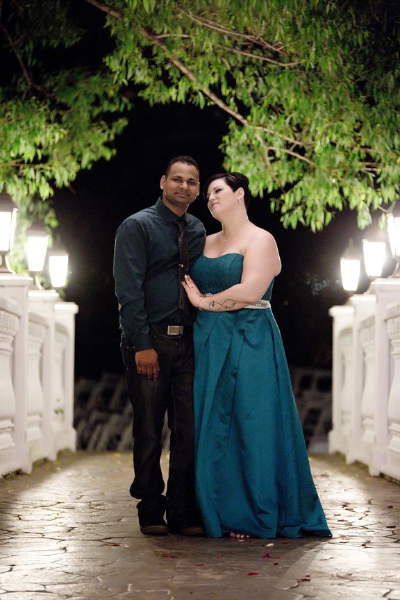 wedding portrait after dark Paradise Banquet Hall