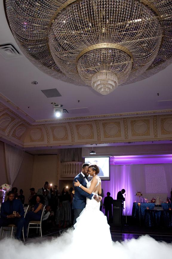wedding reception first dance Paradise Banquet Hall