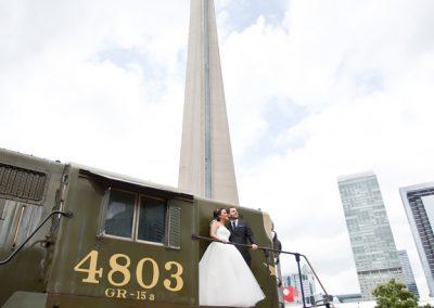 Wedding Portrait at Toronto Railway Museum