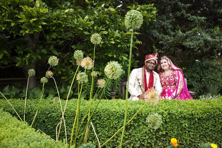Royal Botanical Gardens wedding portrait