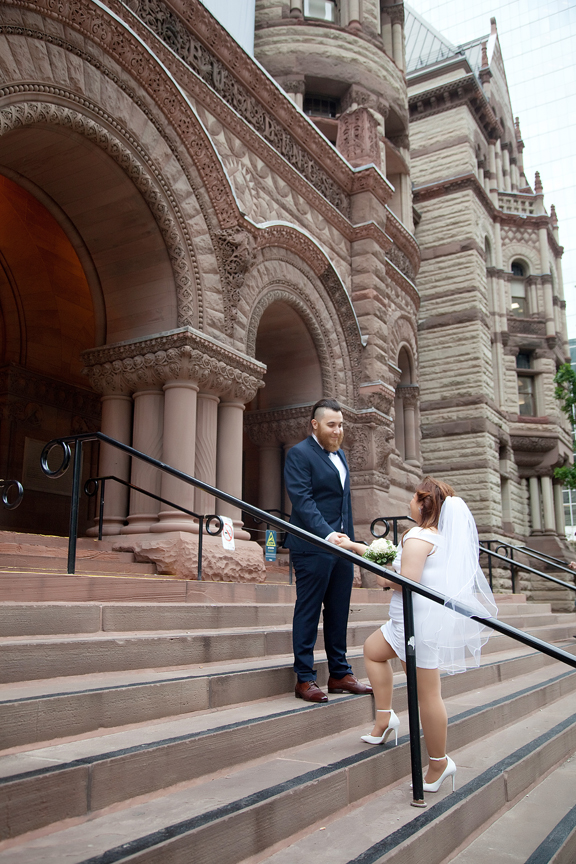 Wedding Portrait at Old City Hall