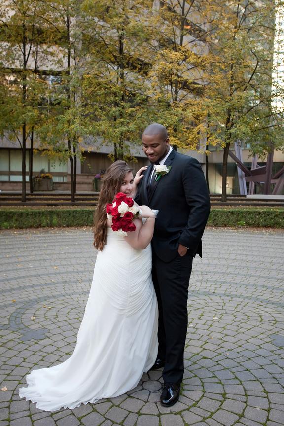 Wedding Portrait at Trinity Square