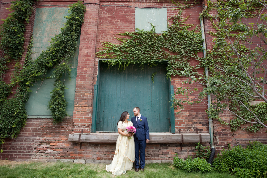 Wedding Portrait at Distillery District