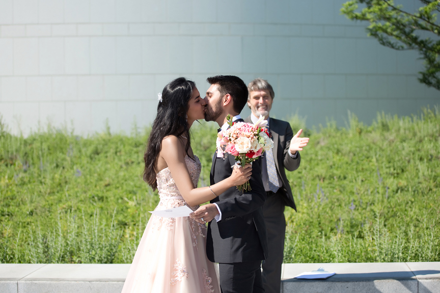 Wedding ceremony at Aga Khan Museum during COVID-19