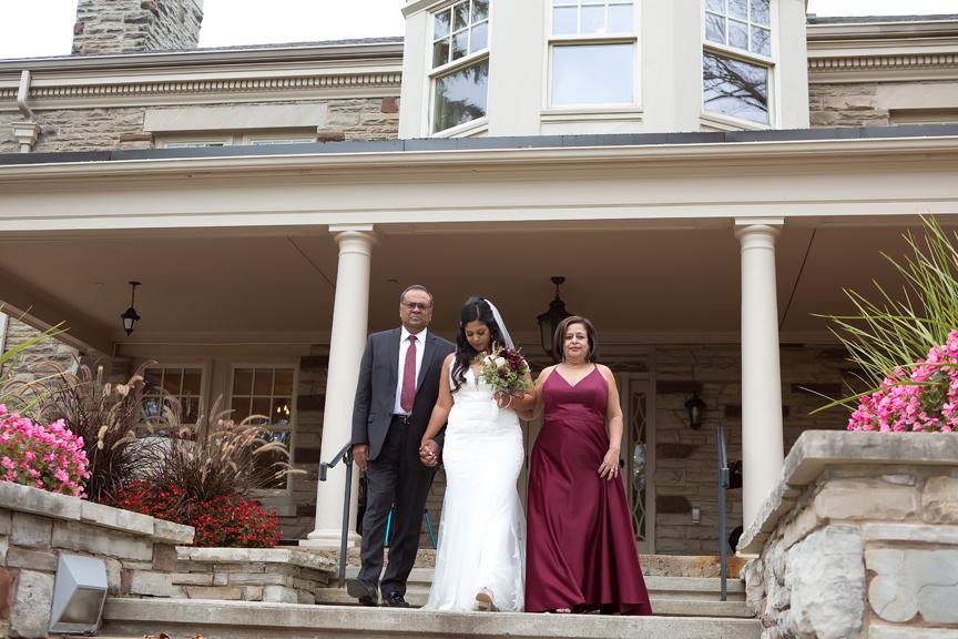 wedding ceremony at Paletta Mansion