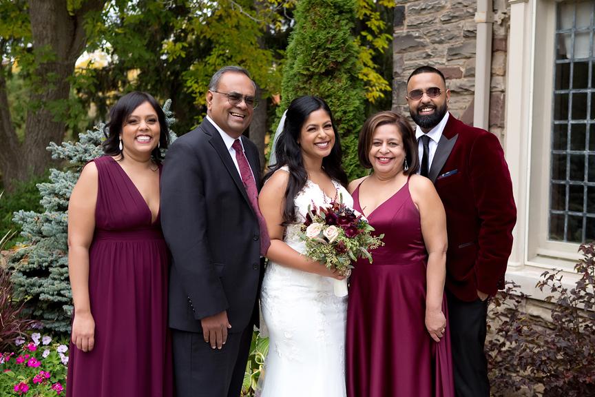 family portrait at Paletta Mansion