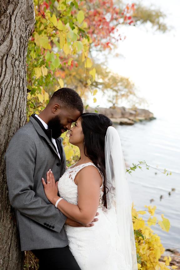 Fall wedding portrait