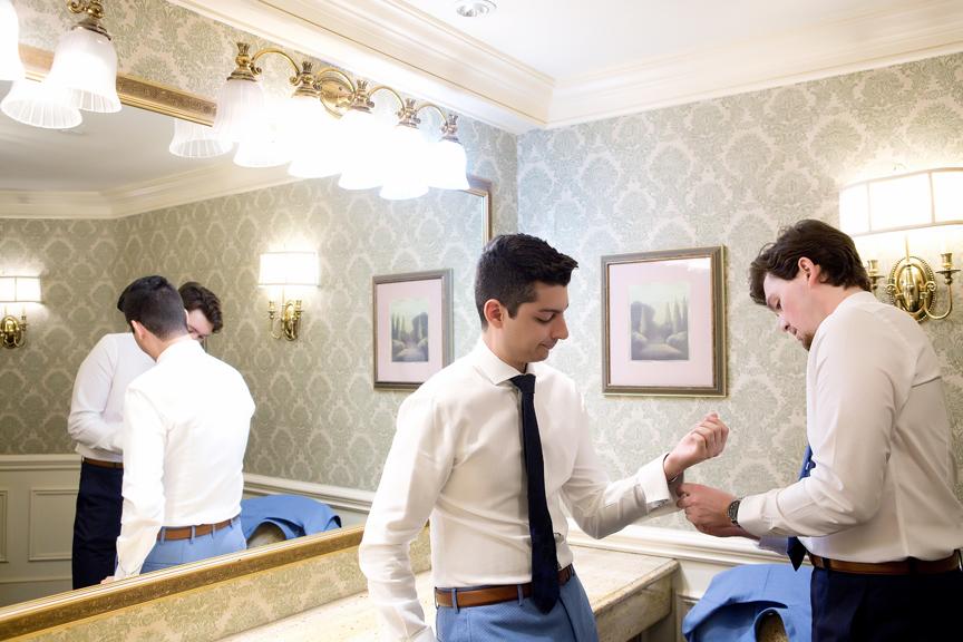 groom Morning prep at Old Mill Toronto