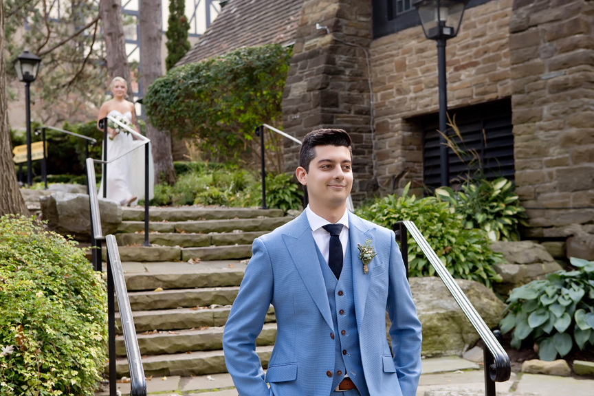 First look Wedding Portraits at Old Mill Toronto
