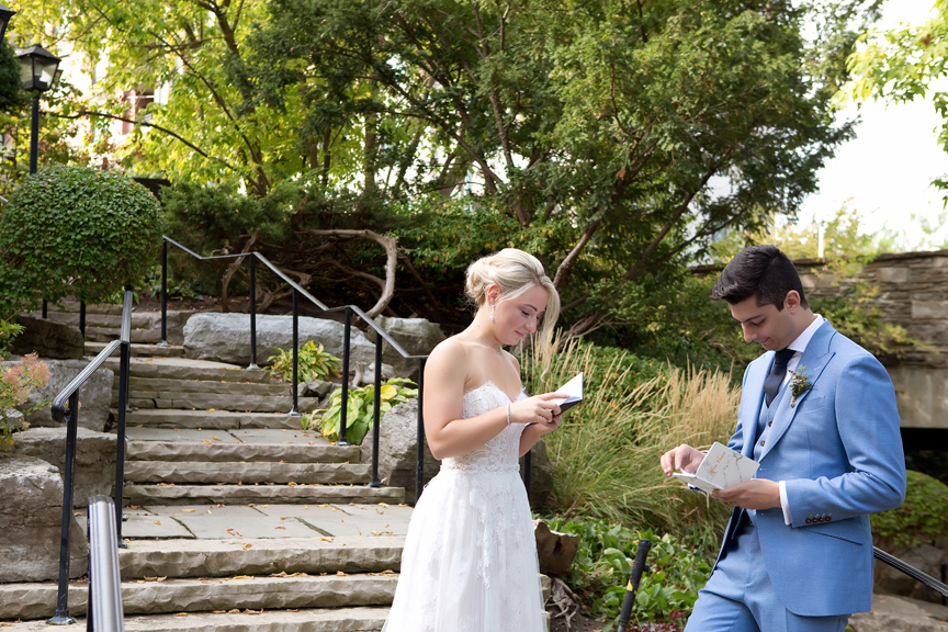 Letters Wedding Portraits at Old Mill Toronto