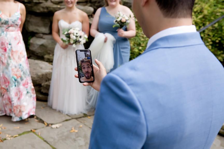 Covid-19 Wedding Portraits at Old Mill Toronto