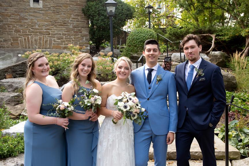 Bridal Party Wedding Portraits at Old Mill Toronto