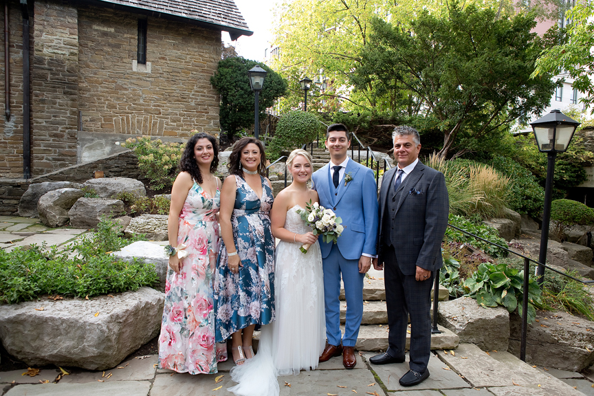 Family Wedding Portraits at Old Mill Toronto