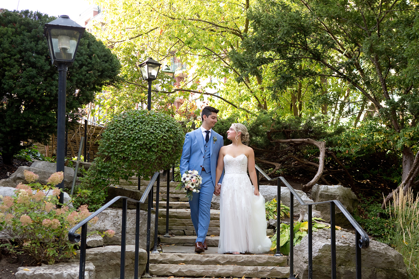 Couple Wedding Portraits at Old Mill Toronto