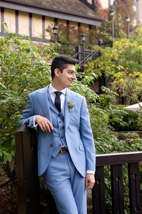 Groom Wedding Portraits at Old Mill Toronto