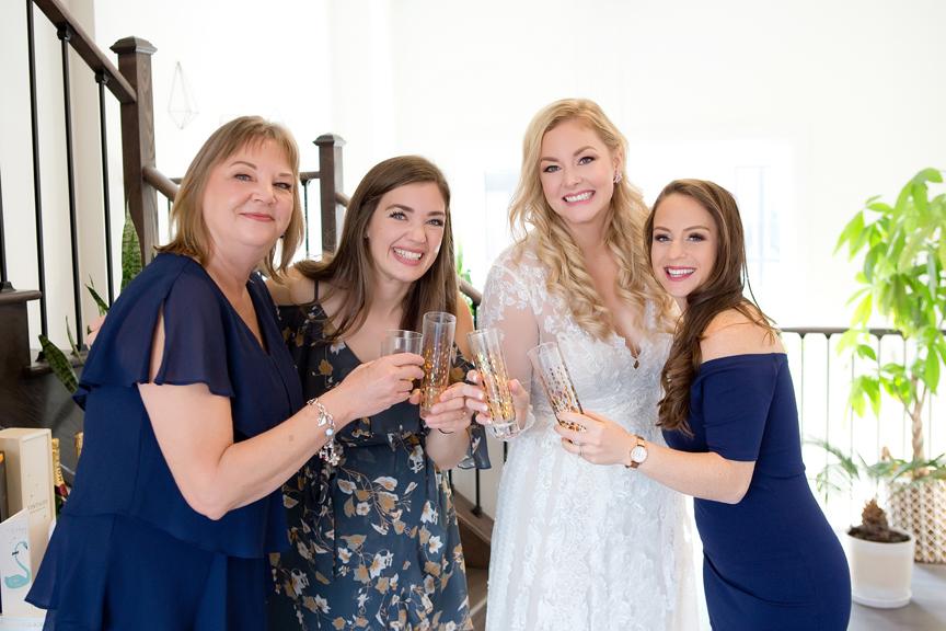 bride prep COVID-19 Wedding