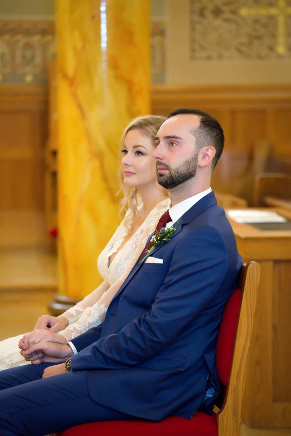 COVID-19 wedding ceremony at St Ann Roman Catholic Church
