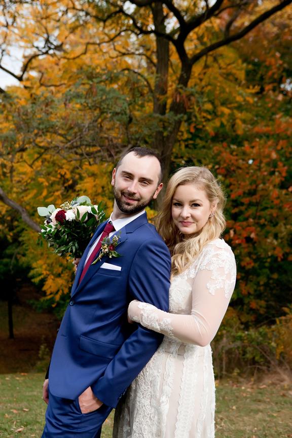 couple wedding portrait at Battlefield Park