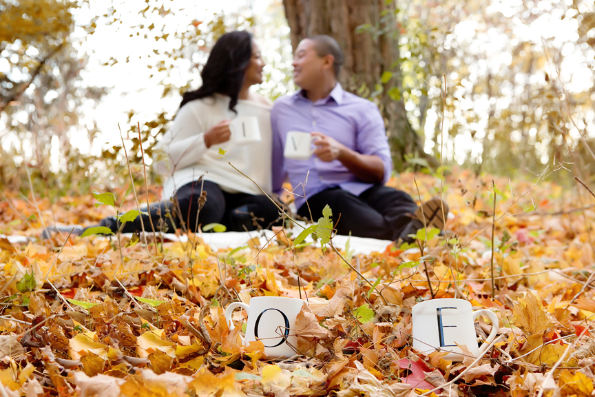 Fall engagement shoot at Rotary Park