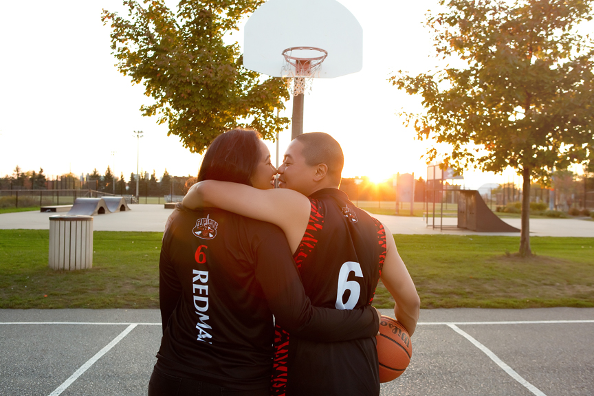 Basketball themed engagement shoot