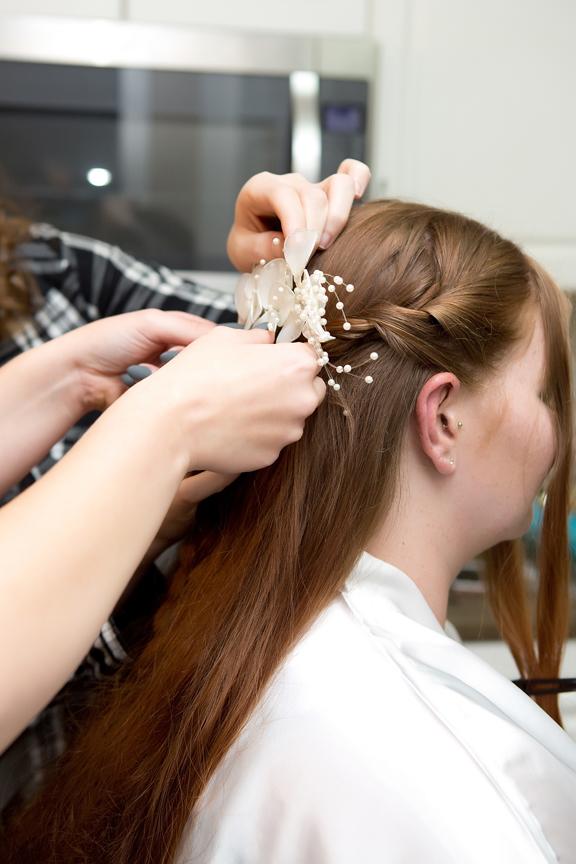 hair morning bride prep
