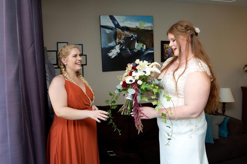 bouquet morning bride prep