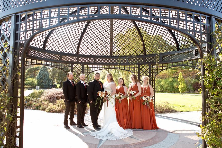 bridal party Wedding portrait at the Royal Botanical Gardens