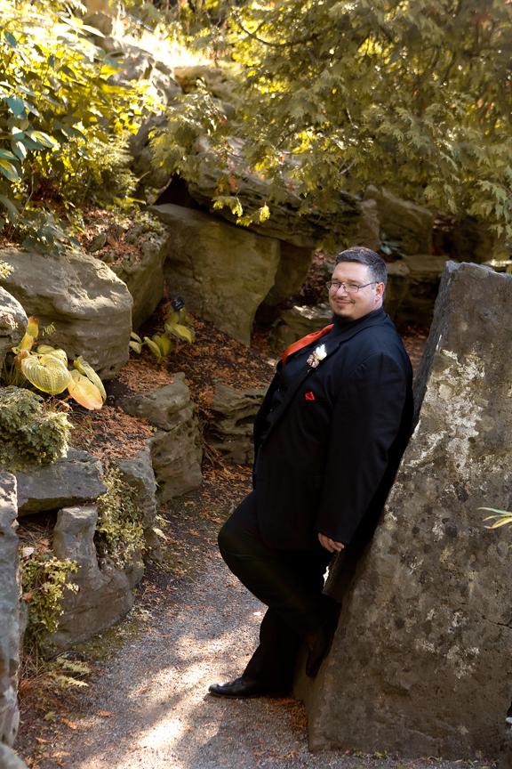 Groom Wedding portrait at the Royal Botanical Gardens