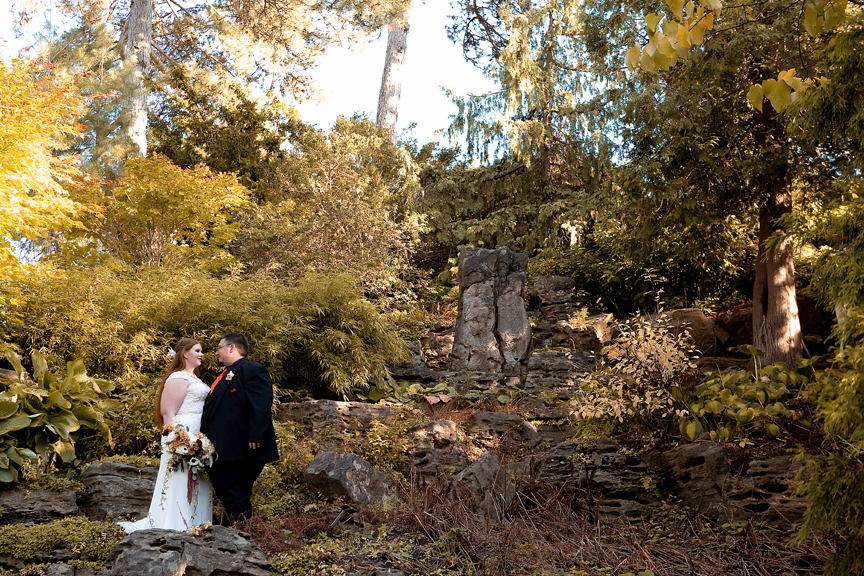 Wedding portrait at the Royal Botanical Gardens