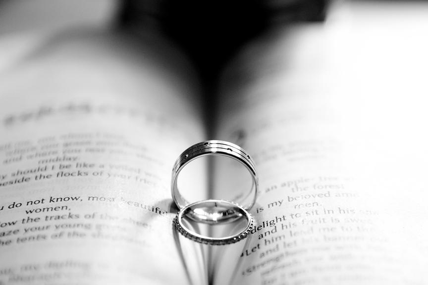 Groom prep wedding rings during COVID-19