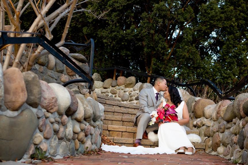 Couple wedding portrait at Miller Lash House Estate