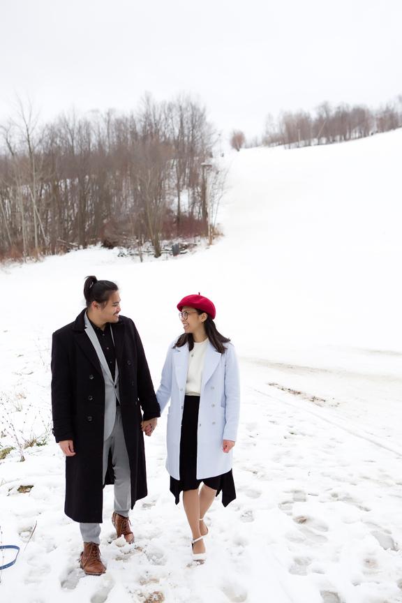 Blue Mountain Resort engagement shoot