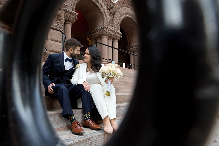 Wedding portraits at old city hall