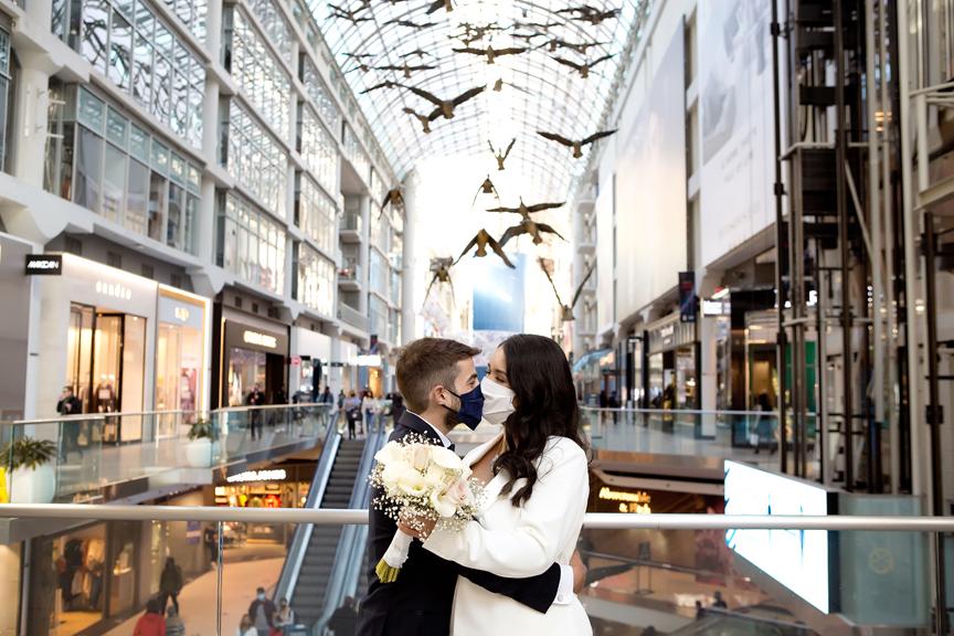 Wedding portraits at Eaton Centre