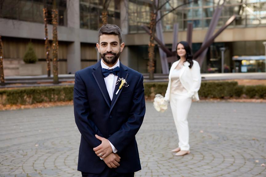 Wedding portraits at Trinity Square