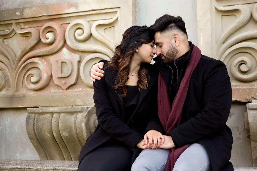Engagement photos at Guild Inn Gardens